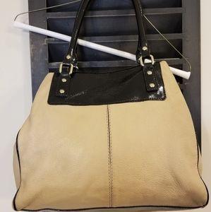 Kate Spade Beige with Black Patent Trim Bag